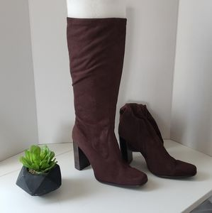 Brown Suade heeled Candies boots